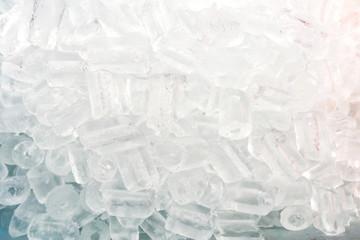 Ice cubes background.