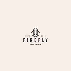 firefly logo hipster retro vintage vector icon illustration design inspirations