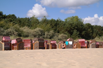 a sunny afternoon at the beach of usedom in the baltic sea