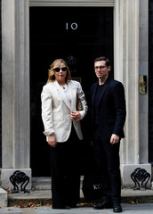 Designer Erdem, arrives in Downing Street for a reception that is part of British Fashion Week