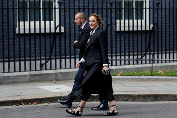 Designer Alice Temperley, arrives in Downing Street for a reception that is part of British Fashion Week, in London