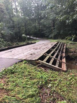 Flooded Bridge Wilmington NC Hurricane Florence