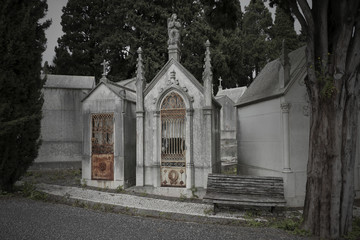 Sad european cemetery