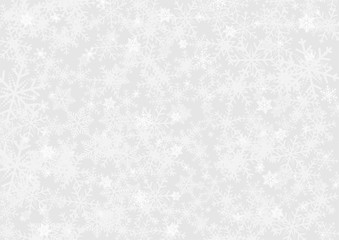 Christmas or happy new year white vector background with snowflake