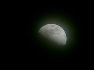 Luna primo quarto 50%