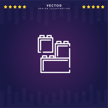 Premium Symbol of Lego Related Vector Line Icon Isolated on Gradient Background. Modern simple flat symbol for web site design, logo, app, UI. Editable Stroke. Pixel Perfect.