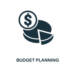 Budget Planning icon. Monochrome style design from smm icon collection. UI. Pixel perfect simple pictogram budget planning icon. Web design, apps, software, print usage. - fototapety na wymiar