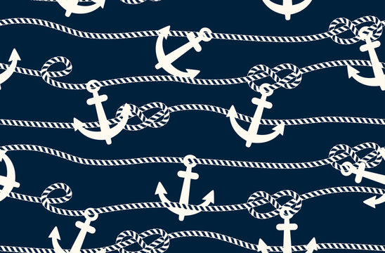 seamless marine pattern, rope weave