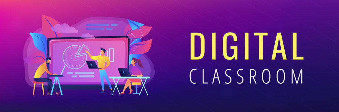 Digital classroom header banner.