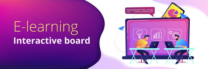 Digital learning header or footer banner.