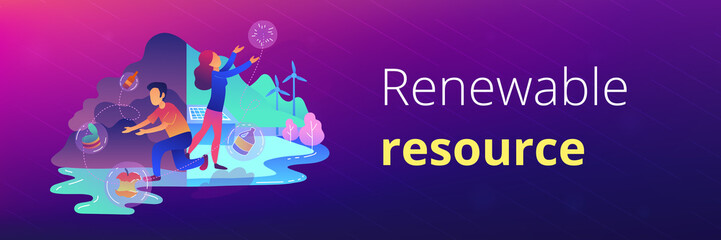Renewable resource banner template.