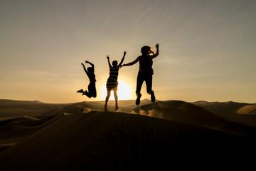 Fun in the desert sunset