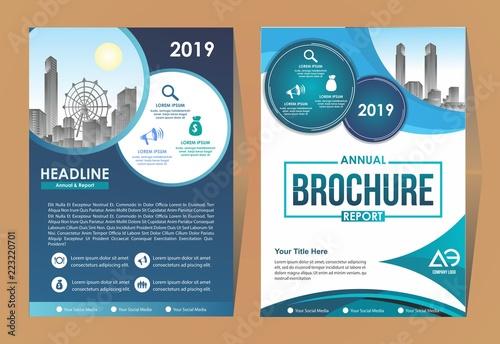 Business Brochure Background Design Template, Flyer Layout