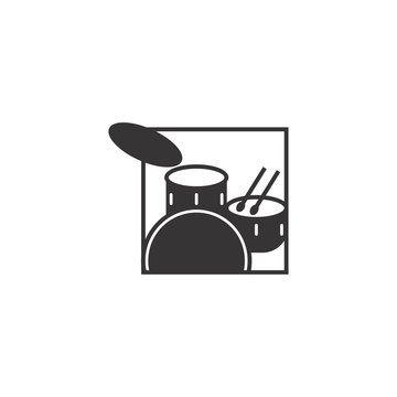 Drum Band Musical Studio Production Industrial Business Logo