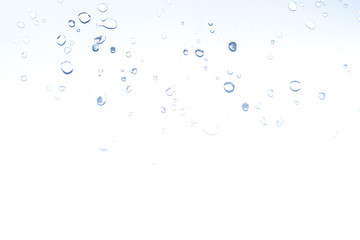 Drops of water on a light background for design