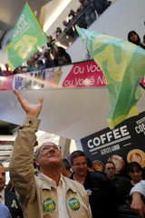 Presidential candidate Geraldo Alckmin attends a rally campaign at Bras neighbourhood in Sao Paulo