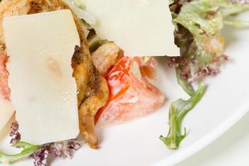 Caesar salad with grilled chicken.