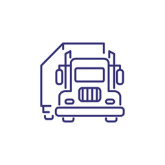 Truck line icon. Van, trailer, vehicle. Logistics concept. Can be used for topics like delivery, business, trade, commerce, shipping