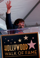 Actor Jack Black speaks at the unveiling of his star on the Hollywood Walk of Fame in Los Angeles