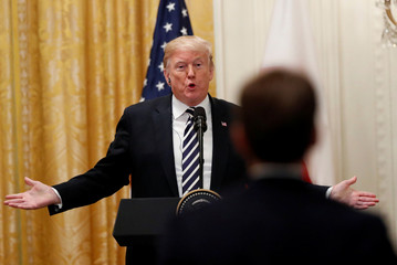 U.S. President Trump discusses Kavanaugh nomination to Supreme Court during joint news conference with Poland's President Duda at the White House in Washington