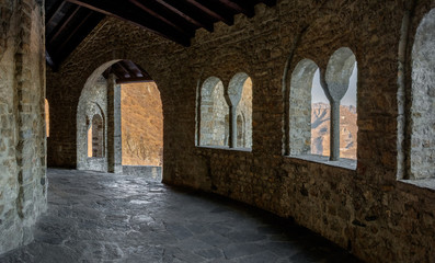 Interior of an old mountain abbey