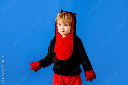 176ad717ce309 Adorable little boy in halloween monster costume. Halloween Theme ...