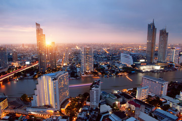 Printed kitchen splashbacks Bangkok Cityscape Bangkok city Asia Thailand Skyline
