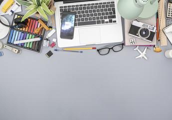 Smartphone on Creative Office Desk Mockup