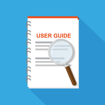 Icon user guide vector flat icon. Concept of User Manual.
