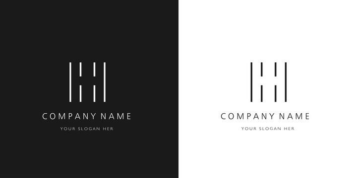 h logo letter modern design