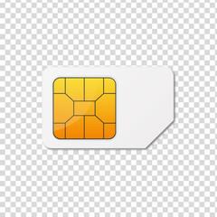 Sim card. Vector illustration.