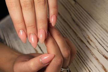 Bright, colorful design of manicure