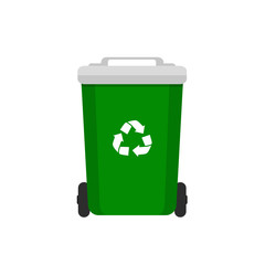 Rubbish Container. rash bin and garbage icons, vector concept