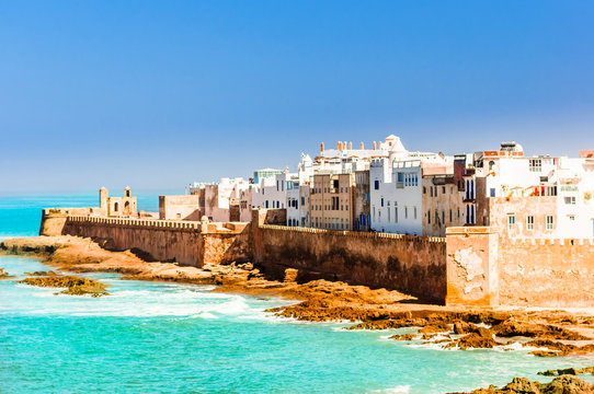 View on old city of Essaouira in Morocco