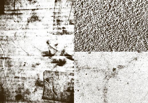 Ensemble d'incrustations de textures urbaines