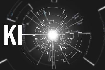 Obraz KI - Künstliche Intelligenz - fototapety do salonu