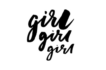 slogan Girl phrase graphic vector Print Fashion lettering calligraphy