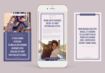 Ensemble de stories compatibles Instagram – palette de tons froids