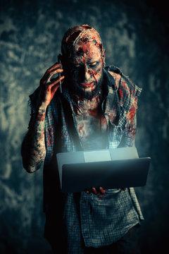 modern zombie man
