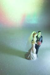 Wedding couple marriage dolls
