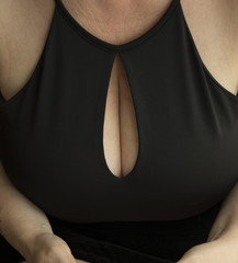 Sexy busty big breasts cleavage