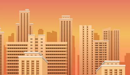 City urban landscape. Vector eps10 isolated illustration.