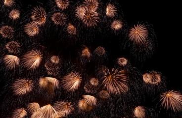 Fireworks exploding in sky, Malta
