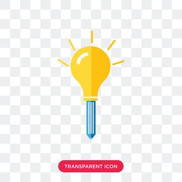 Light bulb vector icon isolated on transparent background, Light bulb logo design