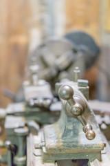 Antique metal laithe machine