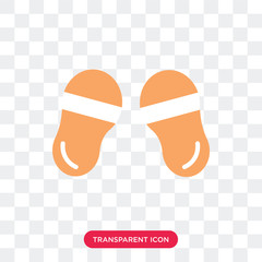 Flip flops vector icon isolated on transparent background, Flip flops logo design