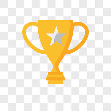 Trophy vector icon isolated on transparent background, Trophy logo design