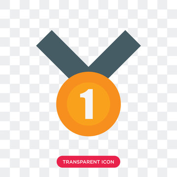 Medal vector icon isolated on transparent background, Medal logo design
