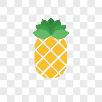 Pineapple vector icon isolated on transparent background, Pineapple logo design