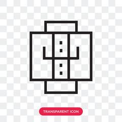Jacket vector icon isolated on transparent background, Jacket logo design